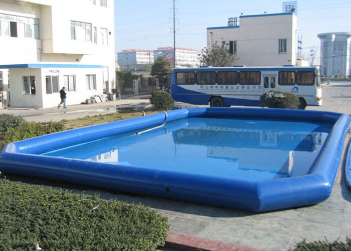 China Children Blue Inflatable Deep Swimming Pool , Big Above Ground Blow Up Pools factory