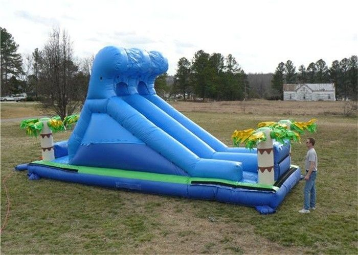 China PVC Tarpaulin Commercial Inflatable Slide , Renting Roaring River Slide factory