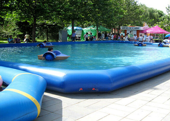 Funny rectangle kids inflatable swimming pools for amusement park Square swimming pools for sale