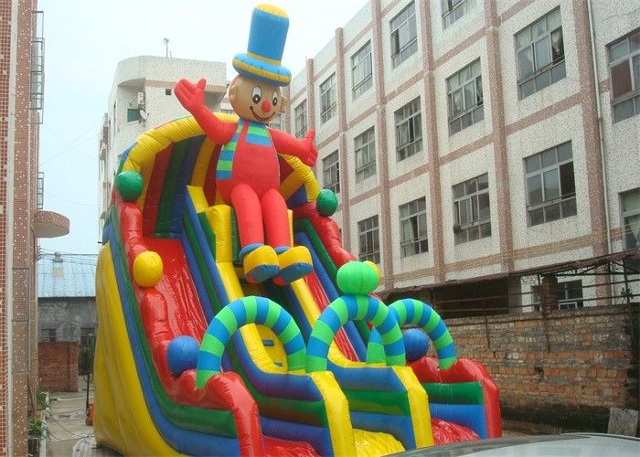 China Exciting Clown Durable PVC Commercial Huge Inflatable Slide Rental factory