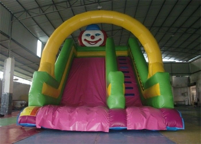 China Fire Resistant Double Lane Commercial 18 Foot Inflatable Slide For Garden factory