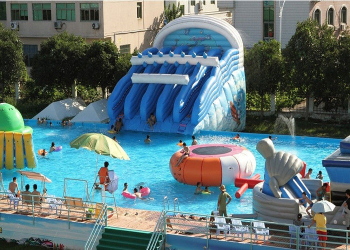 Giant Metal Frame Pool Above Ground Pool Water Slide For