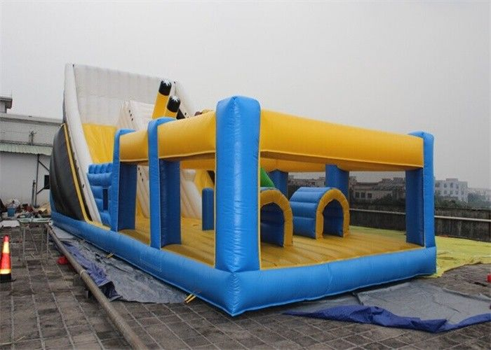 Exciting Pirate Ship Giant Inflatable Water Slide With Waterproof Plato PVC Tarpaulin supplier
