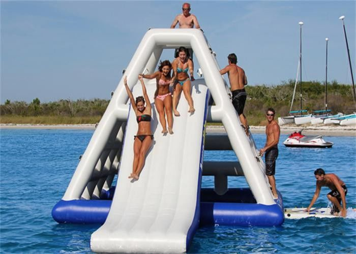 High Class Giant Inflatable Water Slide , Inflatable Floating Water Slide For Seaside supplier
