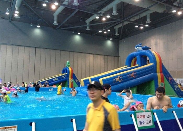 Large Frame Outdoor Inflatable Water Park With Pool ...