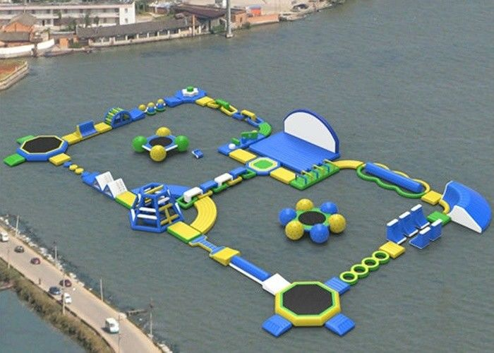Exciting Backyard Inflatable Water Park Rentals , Blow Up Water Park For  Adults