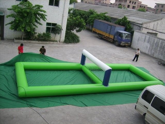 China Portable Waterproof Inflatable Volleyball Field For Water Pool Games factory