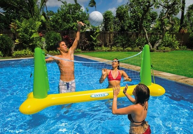 China Custom Inflatable Sports Games / Mini Inflatable Volleyball Field For Aqua Park factory