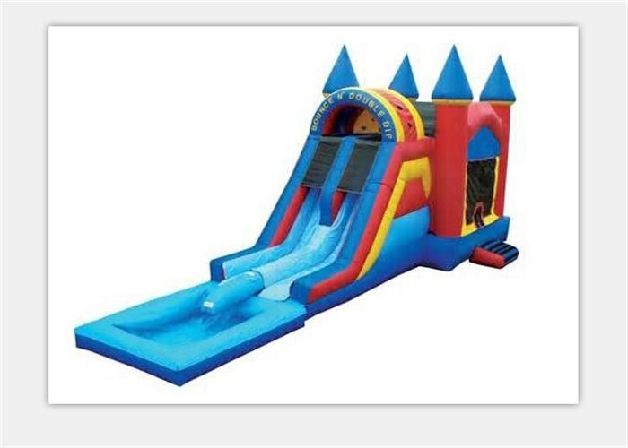 Safety 0.55mm PVC Outdoor Inflatable Bouncy Castle Water Slide For Kids supplier