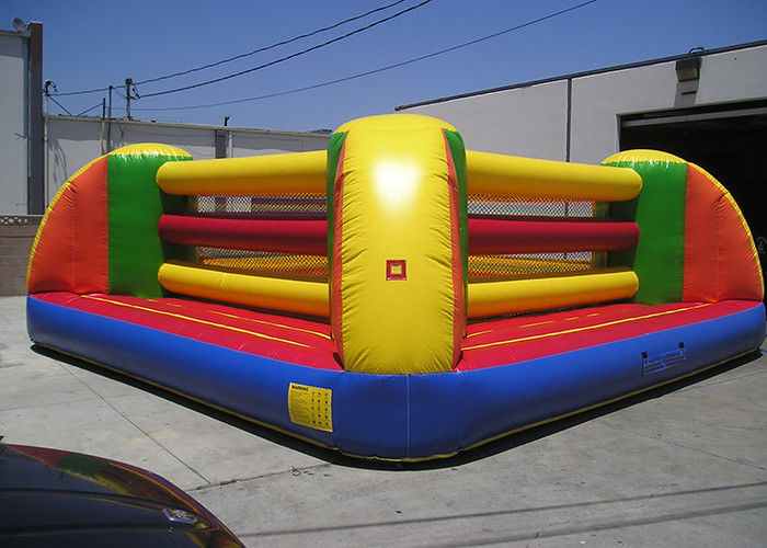 China Waterproof PVC Inflatable Sports Games , 2 Person Exciting Inflatable Boxing Court factory