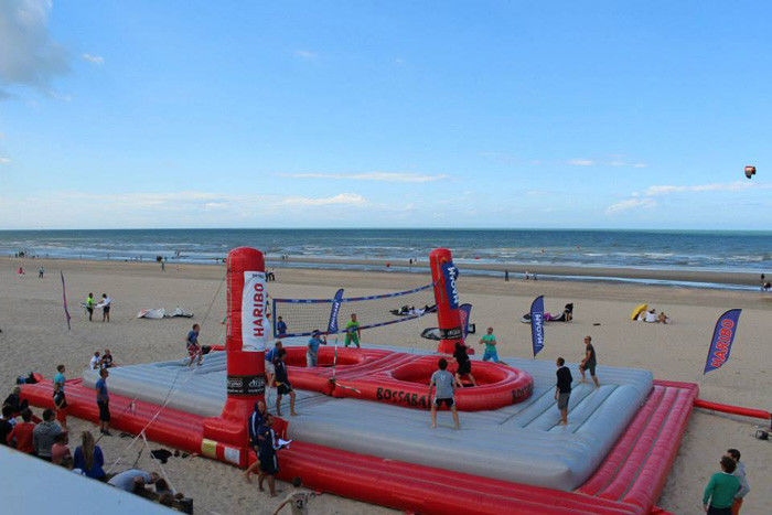 China Huge Inflatable Beach Toys Blow Up Volleyball Court With Logo Printing factory