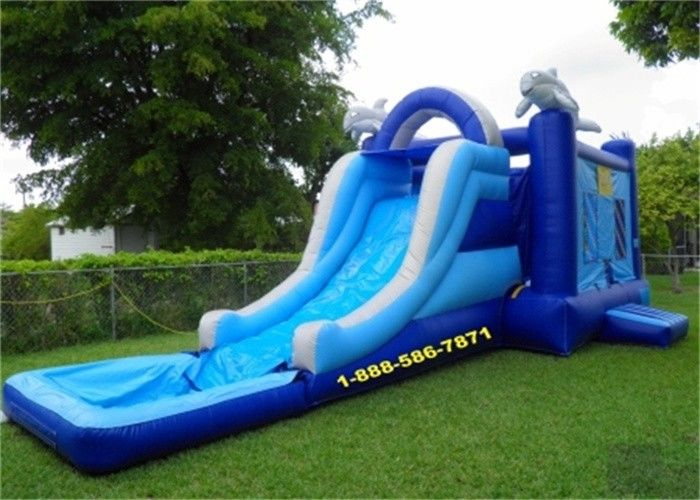 China Mini Backyard Inflatable Water Slides / Amusement Park Water Slide And Bouncer factory