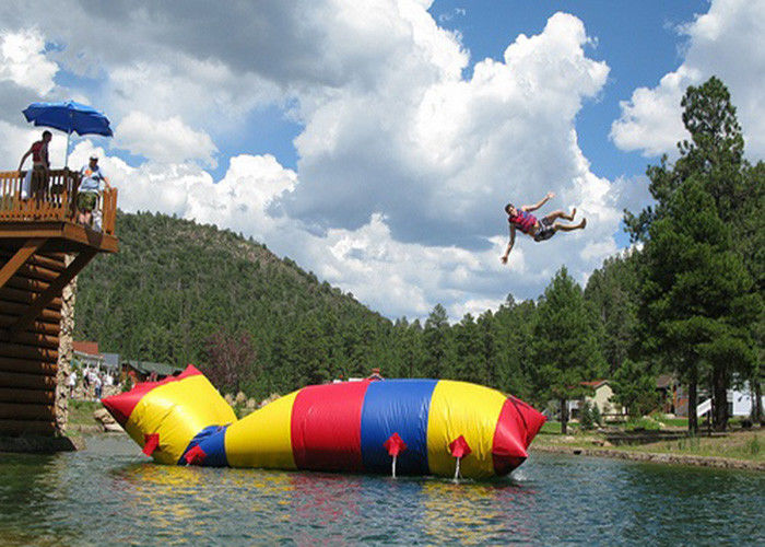 China ODM Jumping Water Catapult Blob Inflatable Toys For Swimming Pools factory
