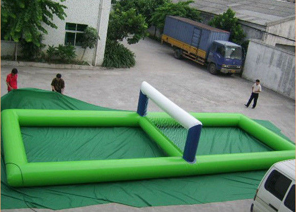 China Portable Inflatable Water Toys , Giant Inflatable Volleyball Court For Water factory