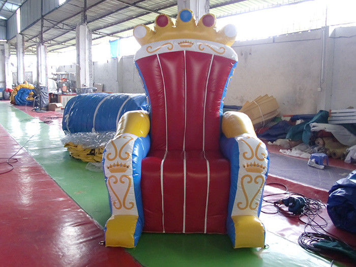 Wonderful Inflatable Throne Decoration , Air Unsealed PVC Inflatable Throne for King supplier