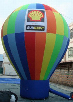 Huge Waterproof Rainbow Earth Inflatable Balloons For Advertising