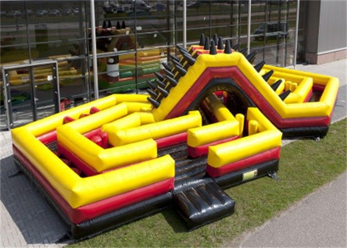Challenge Inflatable Obstacle Course , Adult Moon Bounce Obstacle Course
