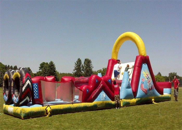 Big Inflatable Obstacle Course EN14960 , Tunnel Obstacle Course For Garden