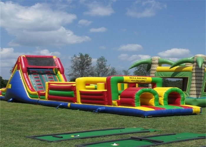 Funny Inflatable Obstacle Course , Bouncy Obstacle Course Jumpers With CE