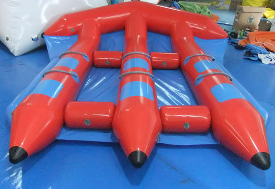 China Funny Red Inflatable Water Toys , PVC InflatableFlyfish for Water Sport Game factory