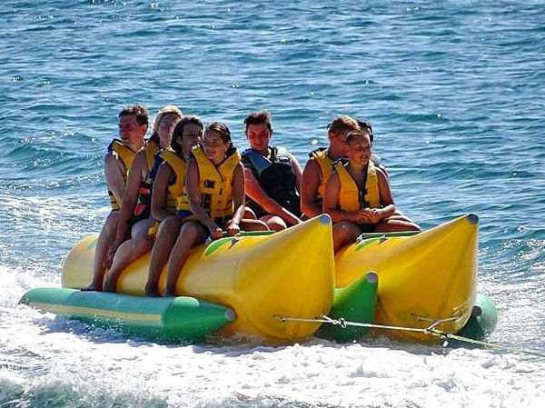 China Inflatable Water Sports Banana Boat / Double Banana Boat For Inflatable Water Games factory