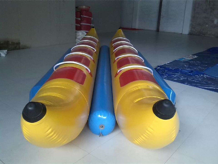 China 10 Seats Inflatable Toy Boat , Double-tripple stitch Inflatable Banana Boat factory