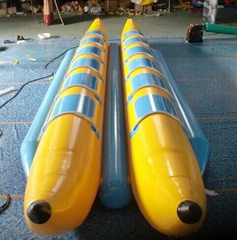 China CE / UL Inflatable Water Toys , Flying Boat Towable With 12 Seats factory