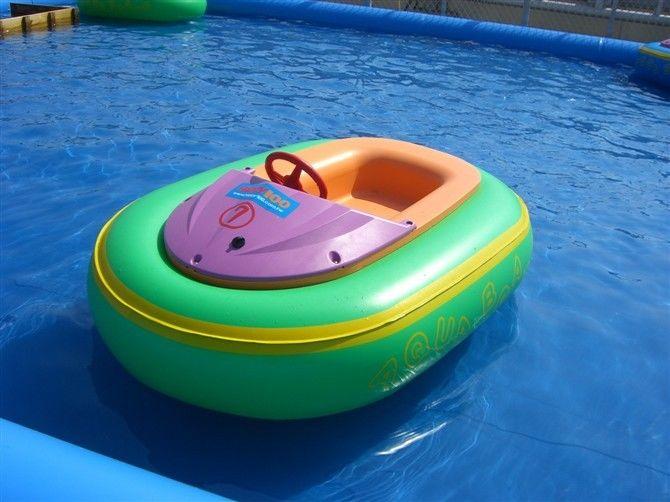 Mini 0.9mm PVC Swimming Pool Toys Inflatable Motorized Bumper Boat