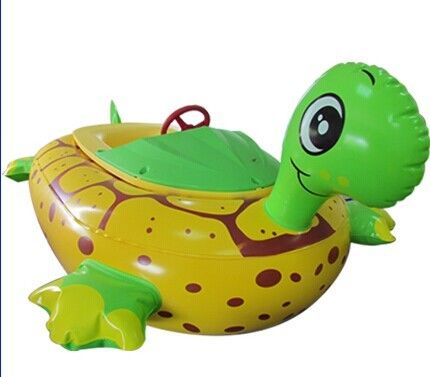China Water Games Inflatable Toy Boat Electric Tortoise Animal Bumper Boat factory