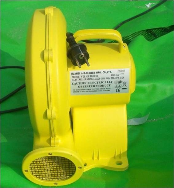 Yellow Different Voltage Portable Inflatable Air Blower For Bouncy Castle