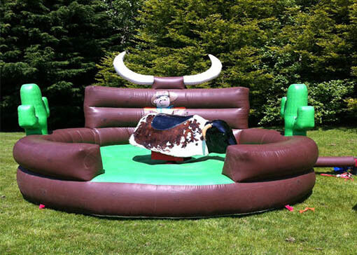 Outdoor Inflatable Interactive Games Kids Mechanical Bull Riding Machine supplier