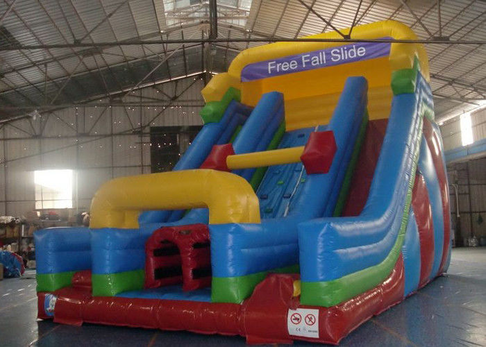 China Rock Climbing Inflatable Slide ,  Double Slide Way Dry Slide in Stock factory
