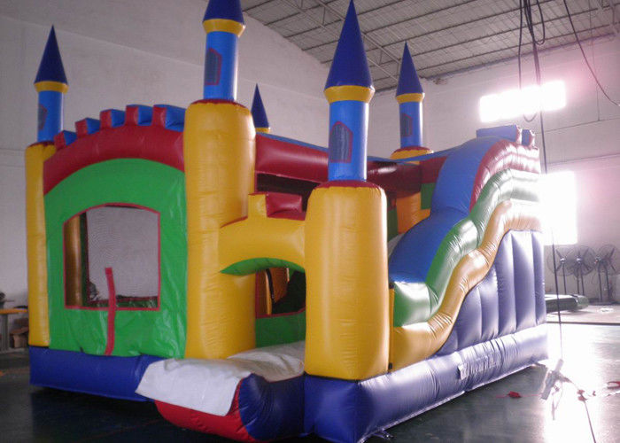 China Commercial Castle Combo Bounce House / Residential Inflatable Combo factory