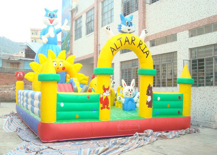 Large Plato PVC Tarpaulin Adult Inflatable Bouncer With Jumping Castle supplier