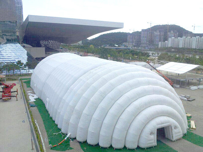 Amazing FR Rip Stop Nylon White Globe Marquee Inflatable Exhibition Tent supplier