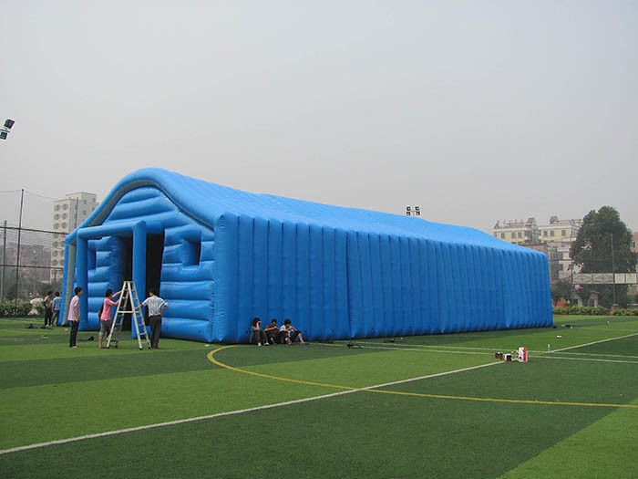 China Commercial Blue Color Inflatable Tent / Inflatable Warehouse Tent for Storage factory