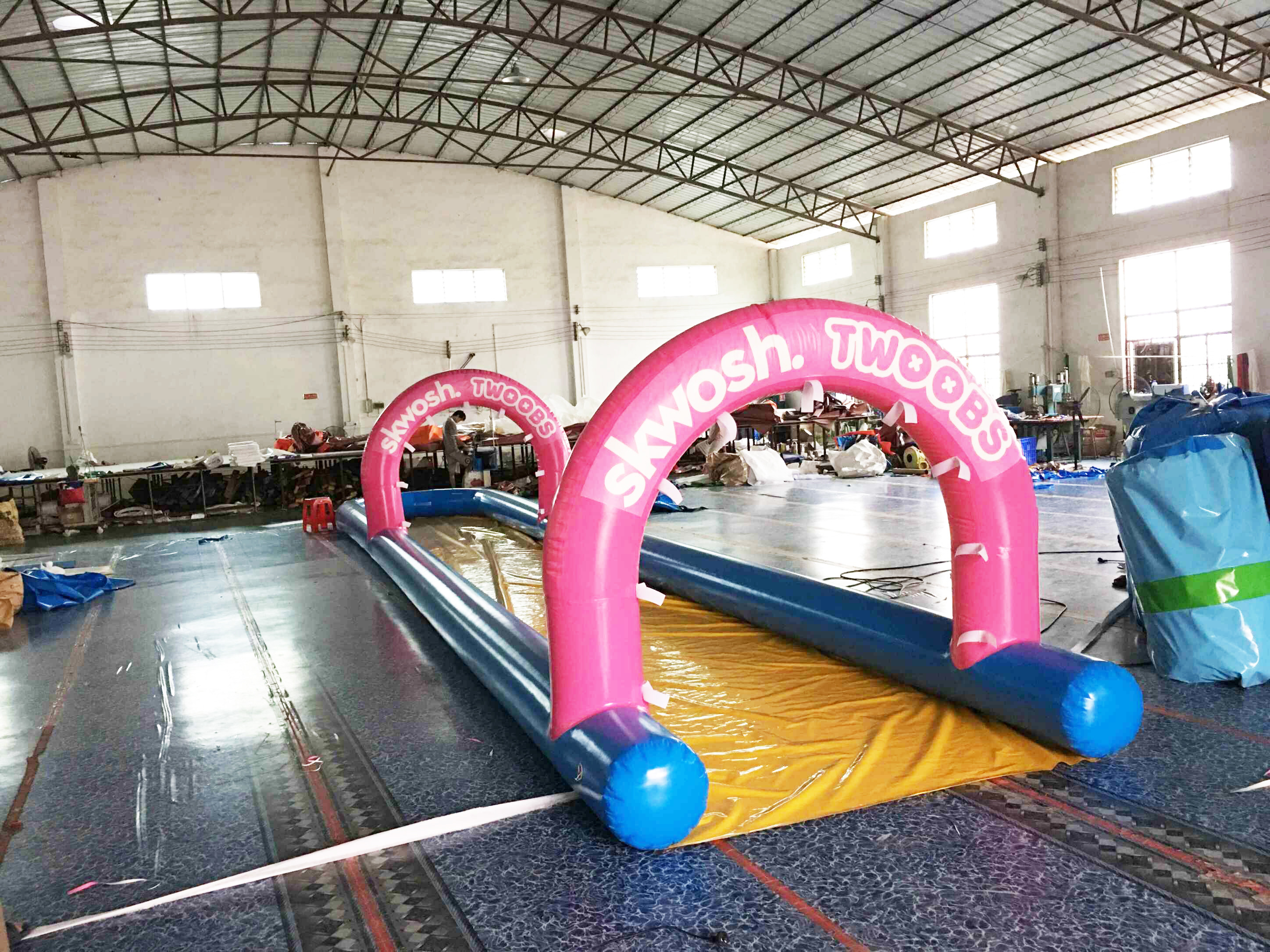 Air Sealed Mini Inflatable Slide For Backyard , Inflatable ...