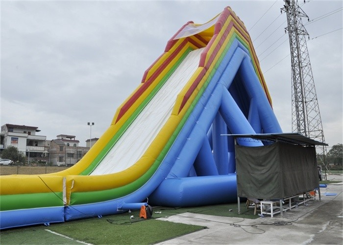 Safety Outdoor Large Blow Up Water Slide For Giant ...