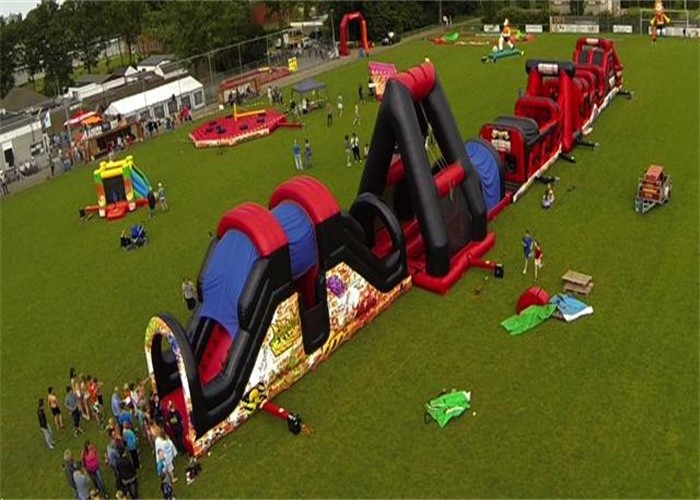 Outdoor Inflatable Obstacle Course , Full Challenge Adult ...