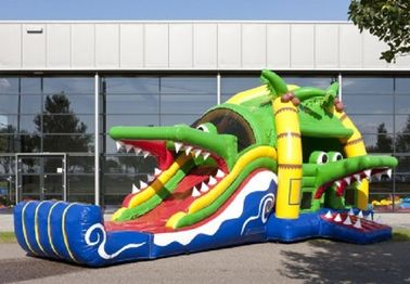 Crocodile Jumping Castle Inflate Combo Outdoor With CE / UL Blower