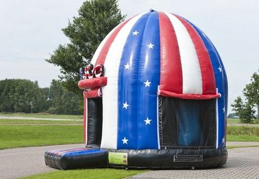 Comercial American Flag Disco Dome Bouncer,Children Inflatable Moonwalk Bouncer
