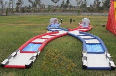 China Wonderful Inflatable Zorb Ball Race Track PVC / TPU Material Inflatable Outdoor Games distributor