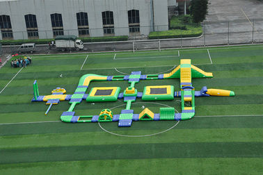 Large Thailand Project Inflatable Floating Water Park Obstacle Course For Sea With CE