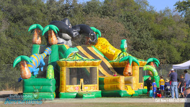Giant King Kong Inflatable Combo Childrens Bouncy Castle With Slide