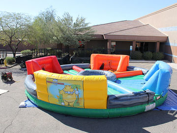Outdoor Inflatable Interactive Games , inflatable hungry hippo game hippo chow down