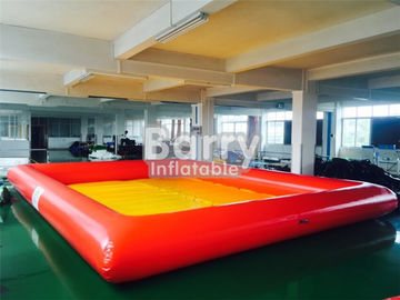 China Orange / Yellow Pvc Floating Inflatable Boat Swimming Kids Portable Swimming Pools distributor