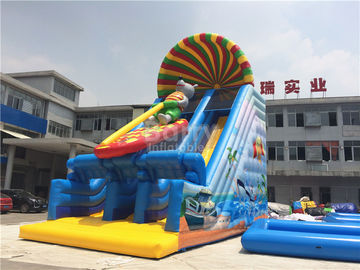 0.55mm PVC Tarpaulin Commercial Inflatable Slide For Kids With Printing