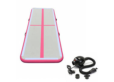 Pink Small Hand Made Air Track Gymnastics Mat For Tumbling Outdoor Or Indoor