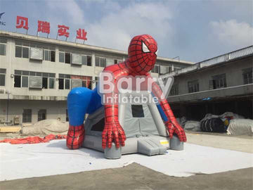 Custom Spiderman Inflatable Bouncer Castle / Blow Up Bounce House For Children