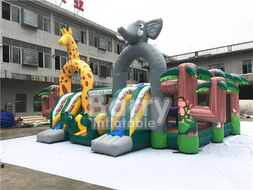 Animal World Large Children Inflatable Toddler Playground ,Indoor Inflatable Fun City